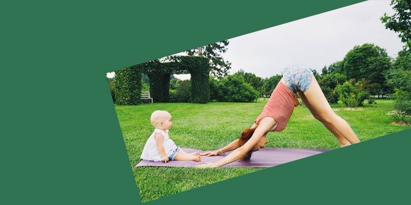 Baby Yoga in Lotherton Gardens