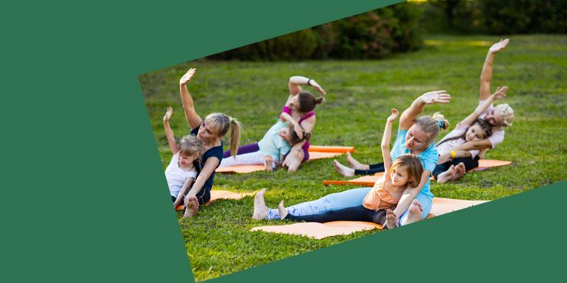 Family Yoga In Lotherton Gardens